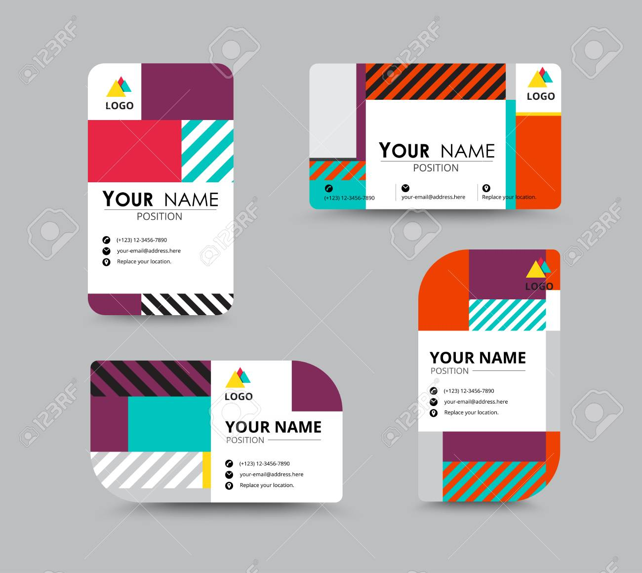 Modern Business Card And Name Card Design. Contempolary Design ...