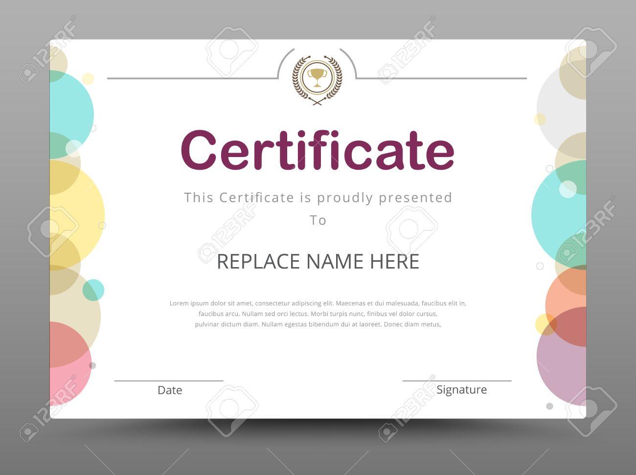 Certificado, Diploma De Finalización, Certificado De Logro Plantilla ...