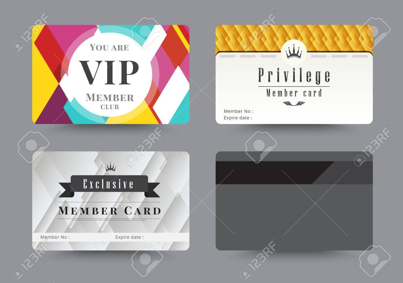 Business VIP Member Cards Design Template. Vector Illustration. Stock  Vector   46173005  Membership Card Design