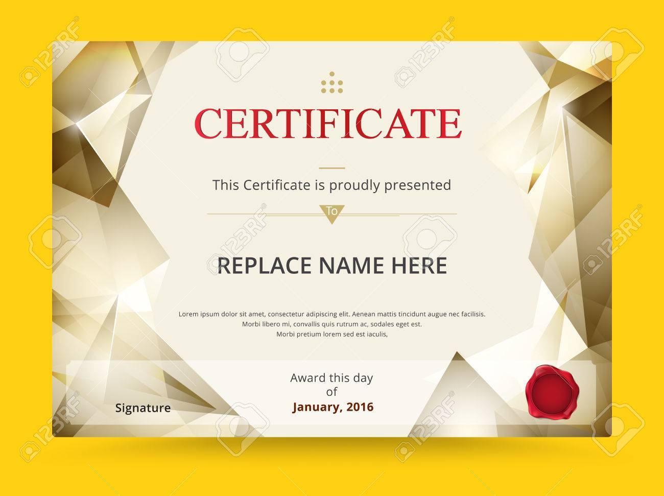 Geometry Diploma Certificate Template Design With International ...