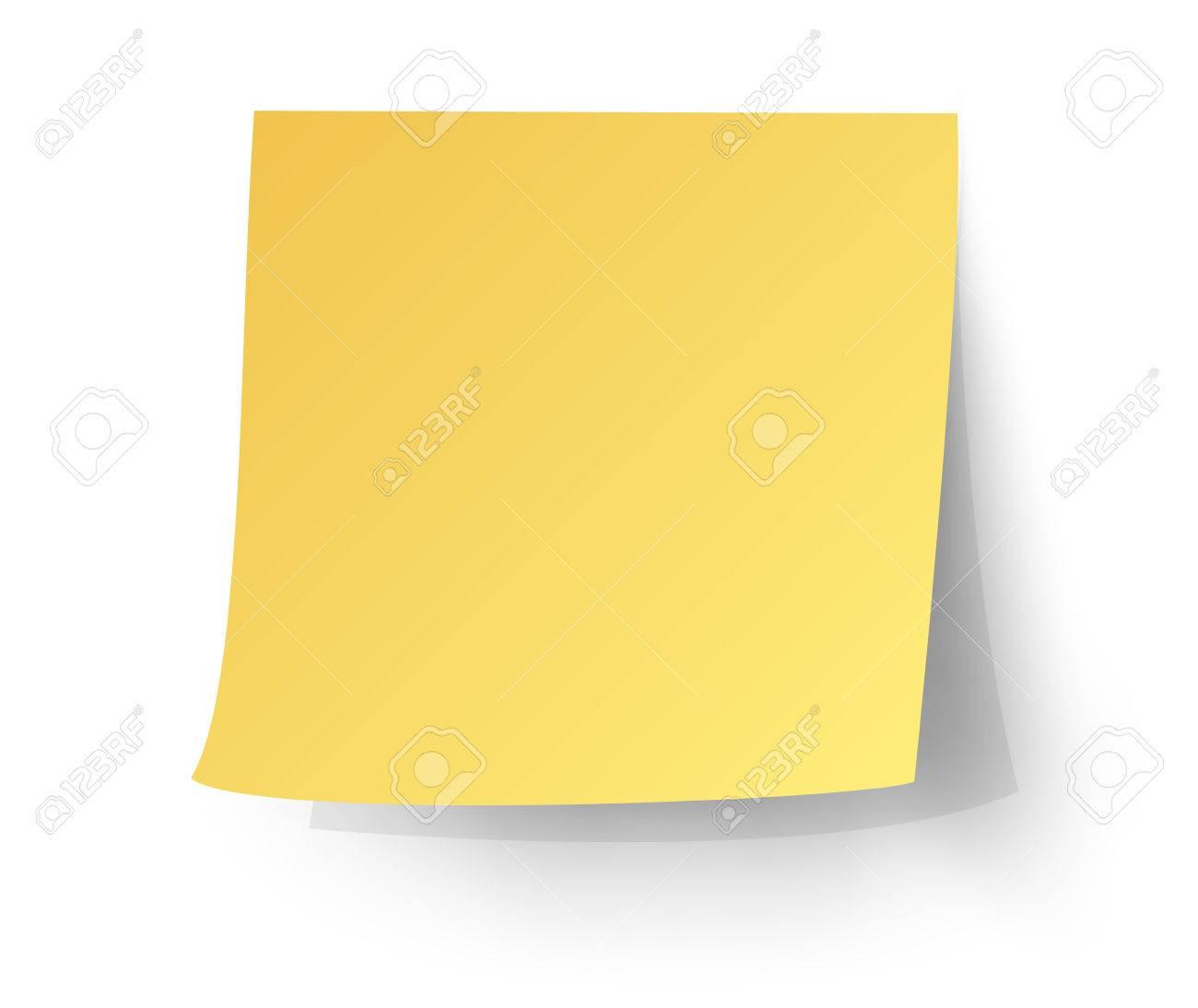 黄色の付箋ポストイットベクトル イラストのイラスト素材ベクタ