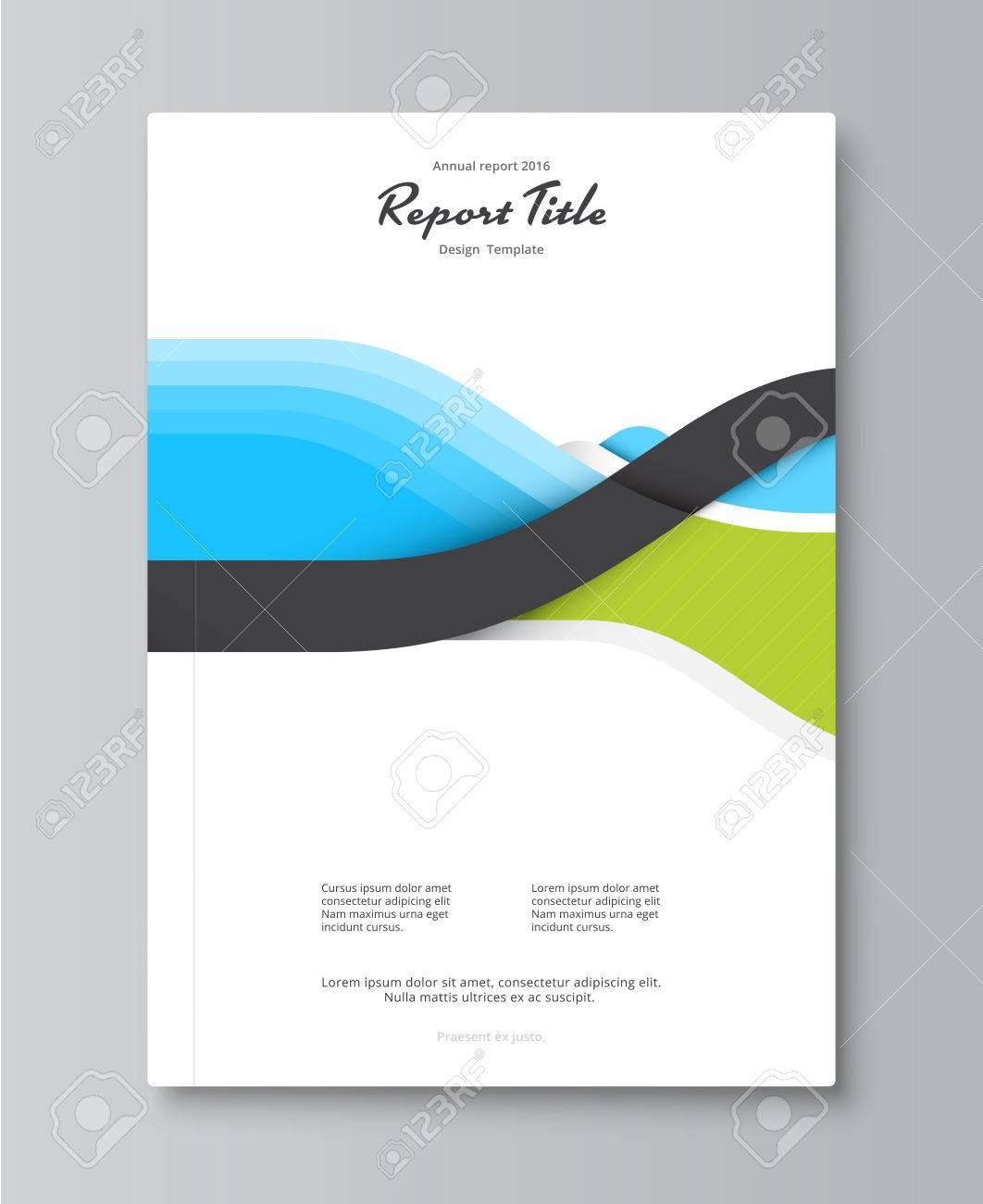Jahresbericht Cover-Design. Buch, Broschüre Vorlage Mit Beispieltext ...