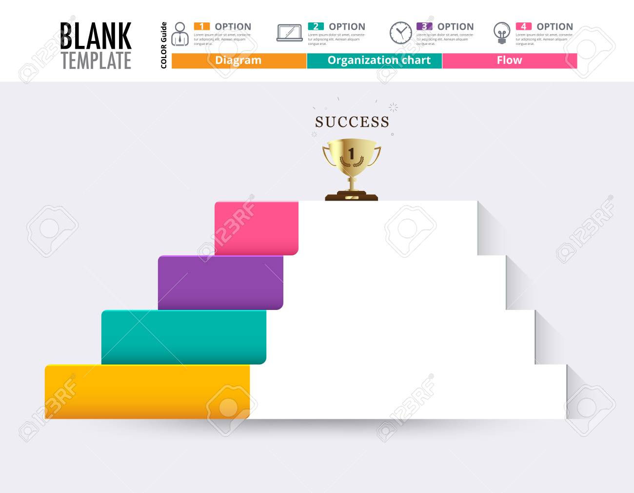Stair To Success Infographic Design Template For Replace Text ...