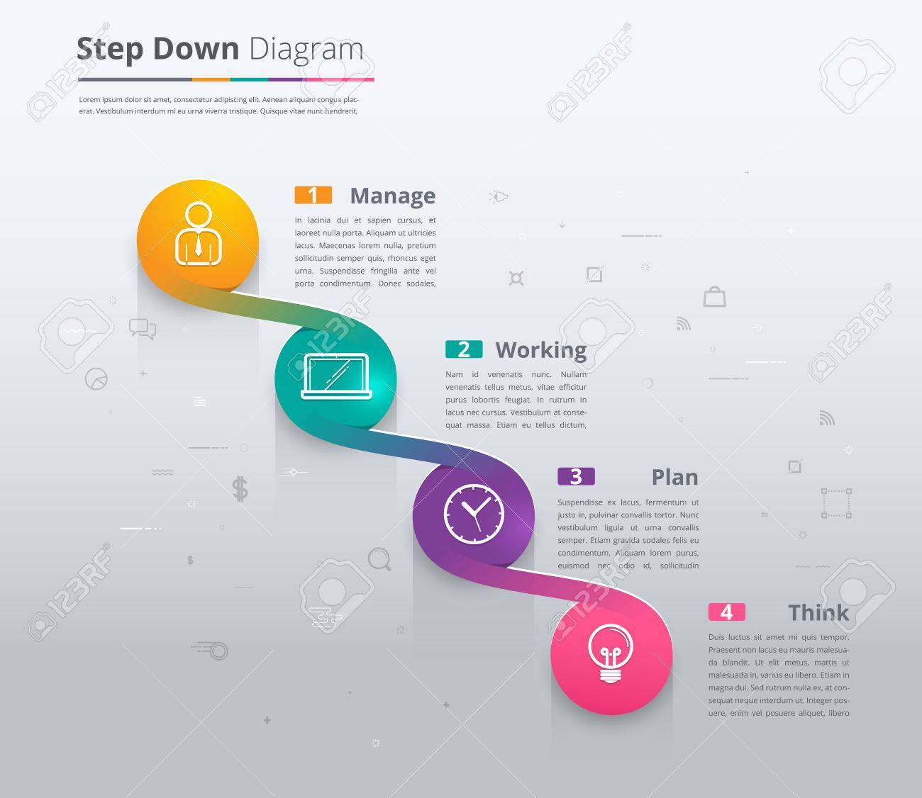 Simple Stair Infographic Diagram. Chart And Icon Sample. Step ...