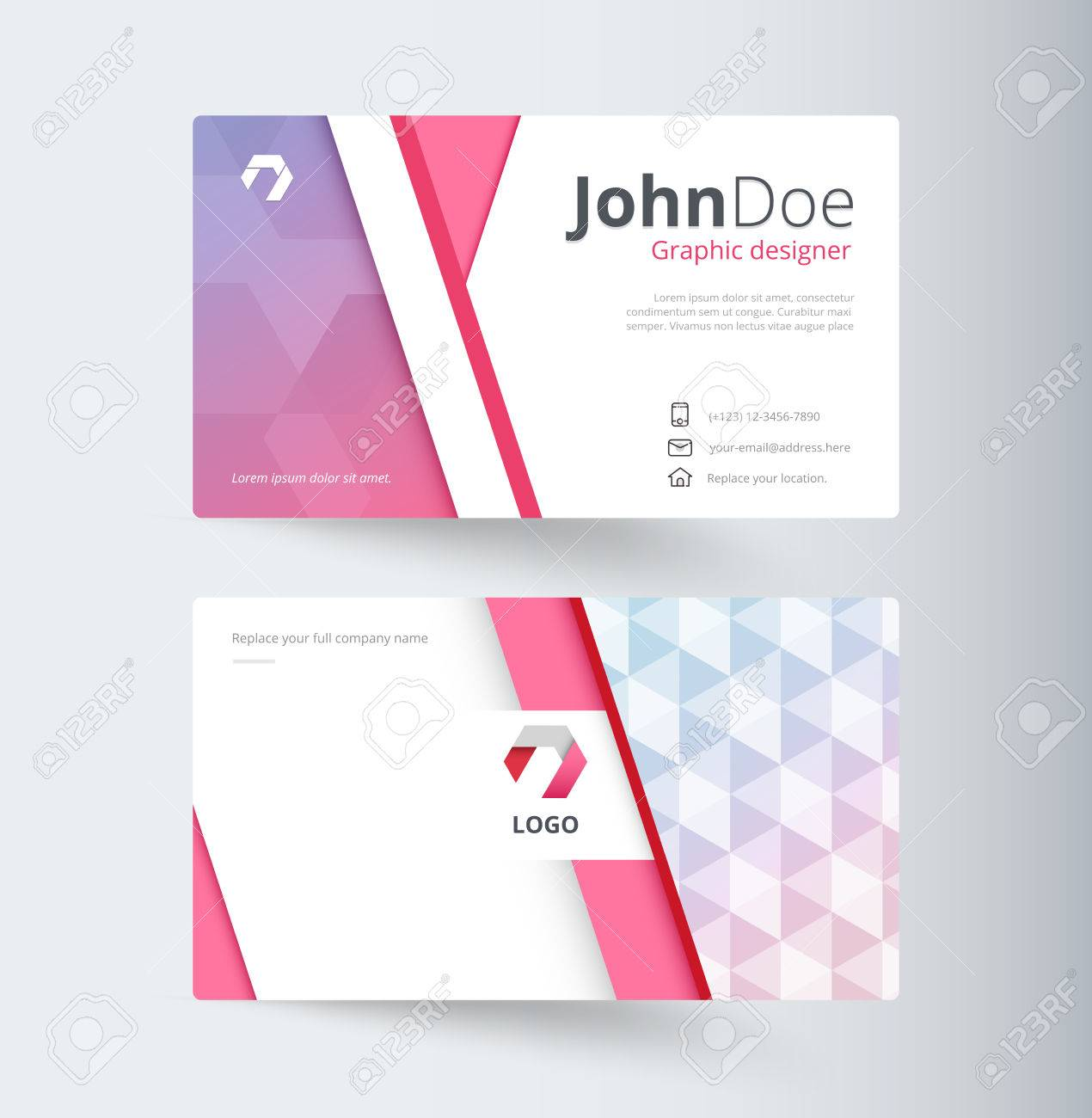 Sweet business contact card template design vector stock royalty sweet business contact card template design vector stock stock vector 65437615 colourmoves