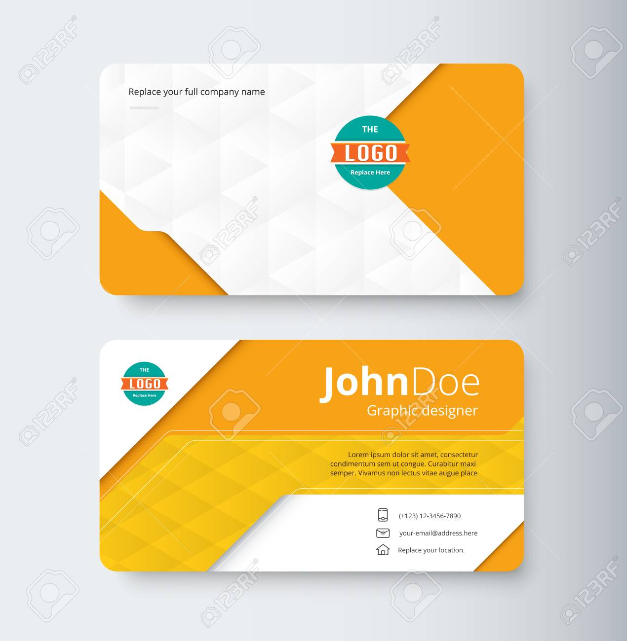 Modele De Carte Visite Professionnelle Orange