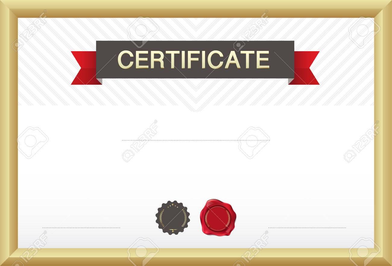 Certificate Border, Certificate Template. Vector Illustration ...