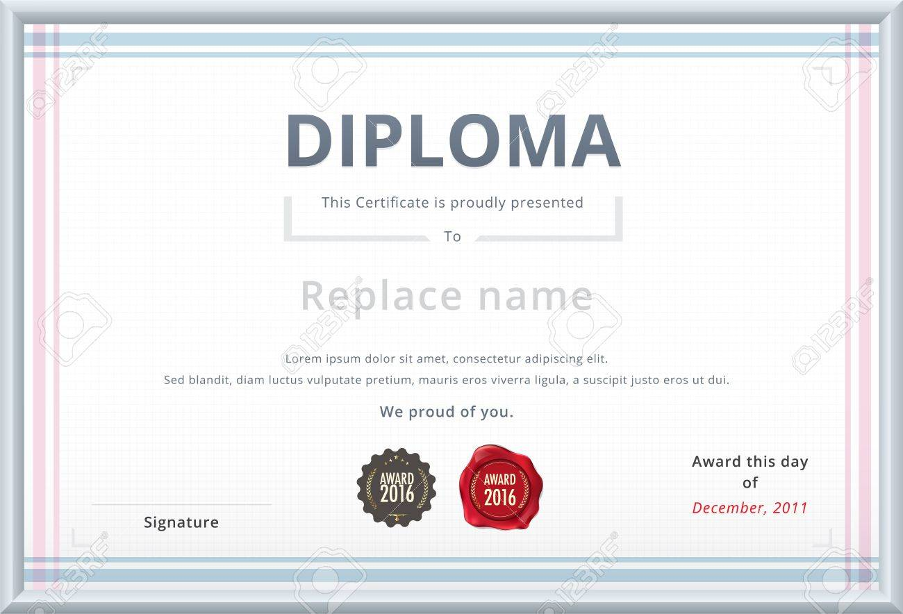 diploma template wax stamp soft color tone design for  diploma template wax stamp soft color tone design for corporate vector template