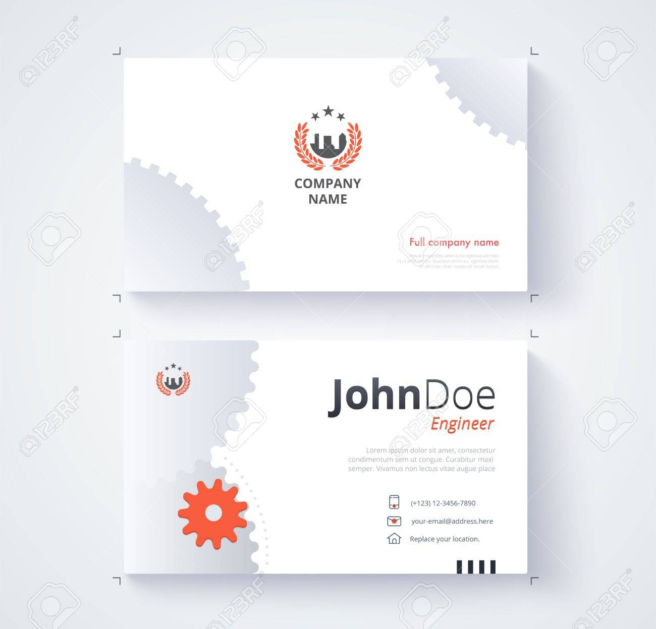 Engineer business card template gear background royalty free engineer business card template gear background stock vector 71264577 reheart Choice Image