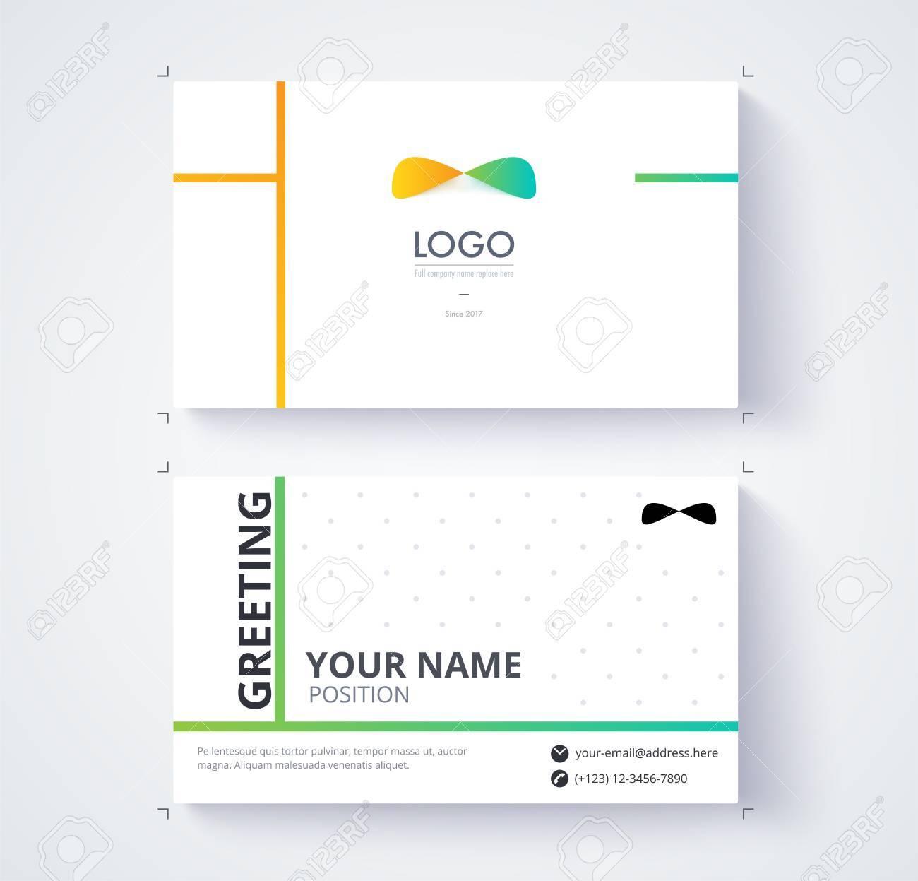 Modle De Carte Visite Exemple Logo Et Position Du Texte