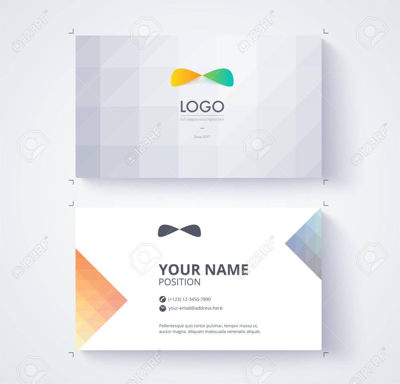 Modele De Carte Visite Exemple Logo Et Position Du Texte