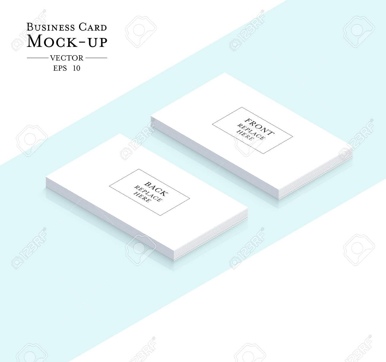 Business Cards Blank Mockup Template Design