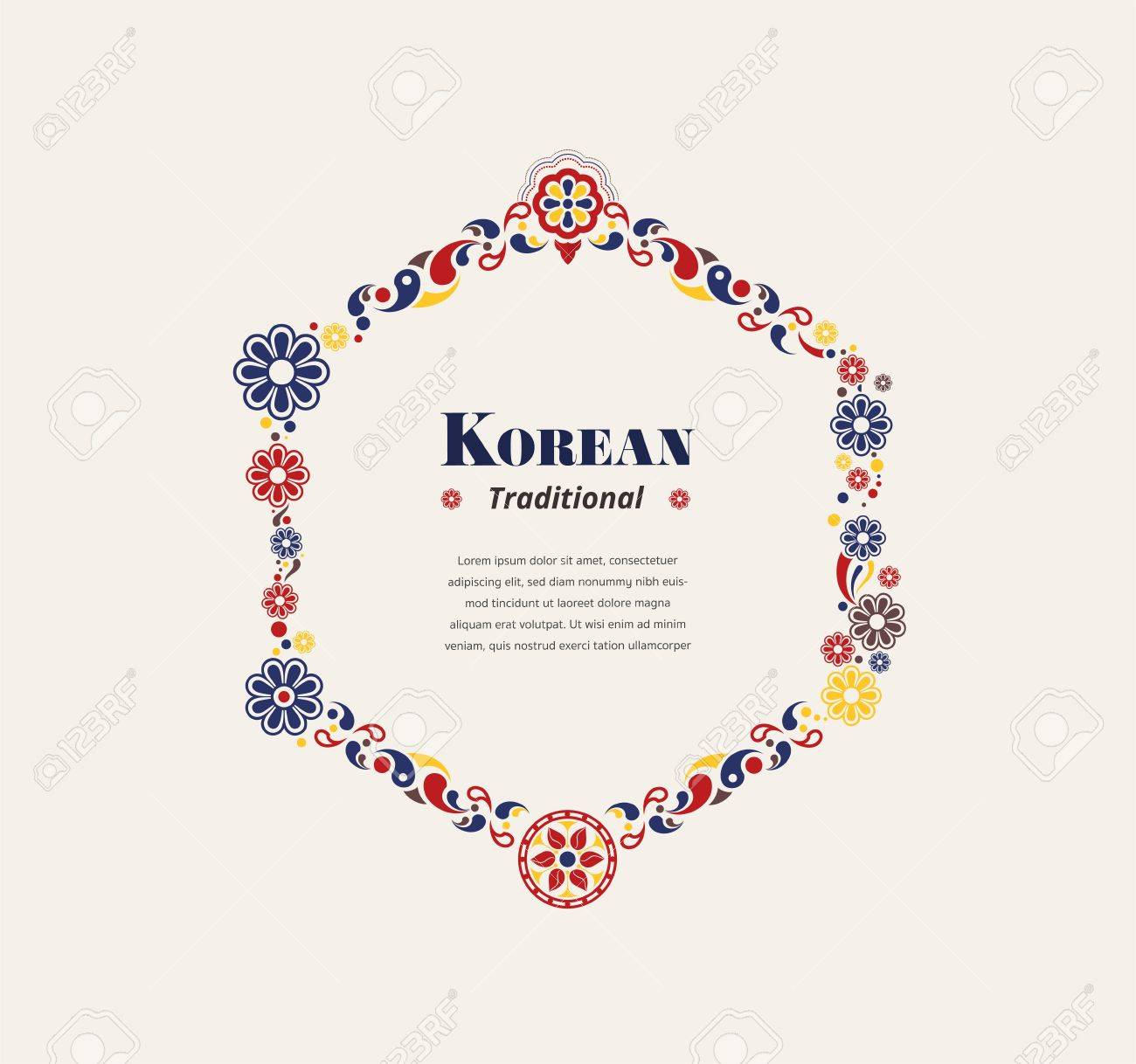 1aa7ec633cd Korea traditional hexagon frame. modern abstract traditional. vector  illustration. Stock Vector - 87532160