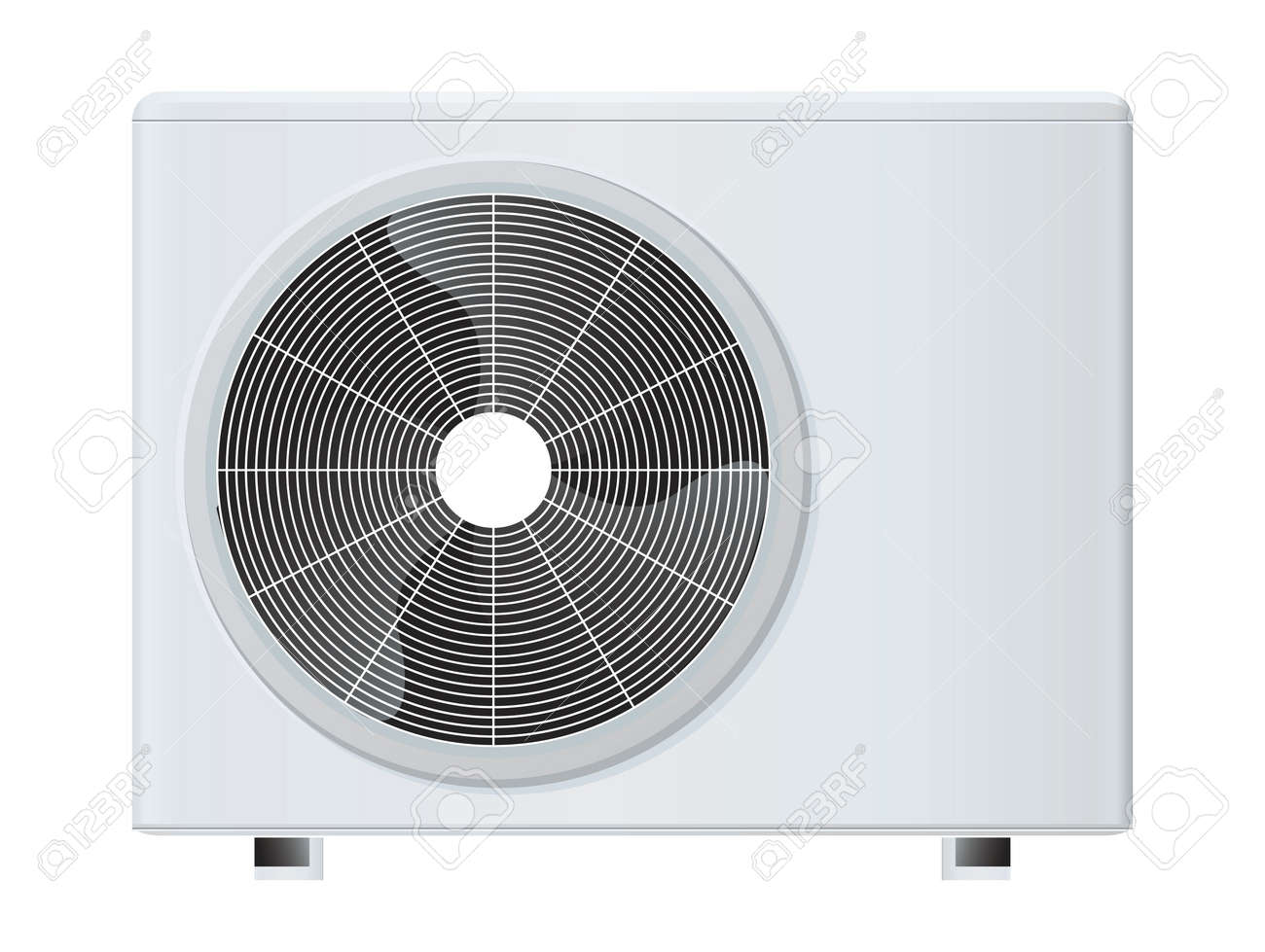 air conditioner rasterized vector illustration Stock Illustration - 1356626