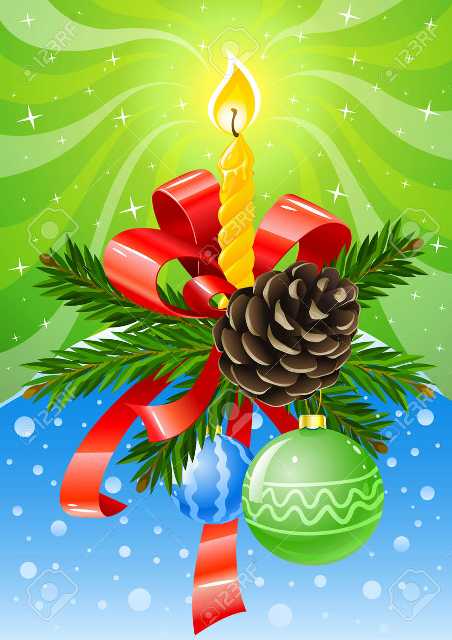 vector illustration of christmas holiday decoration Stock Vector - 3836015