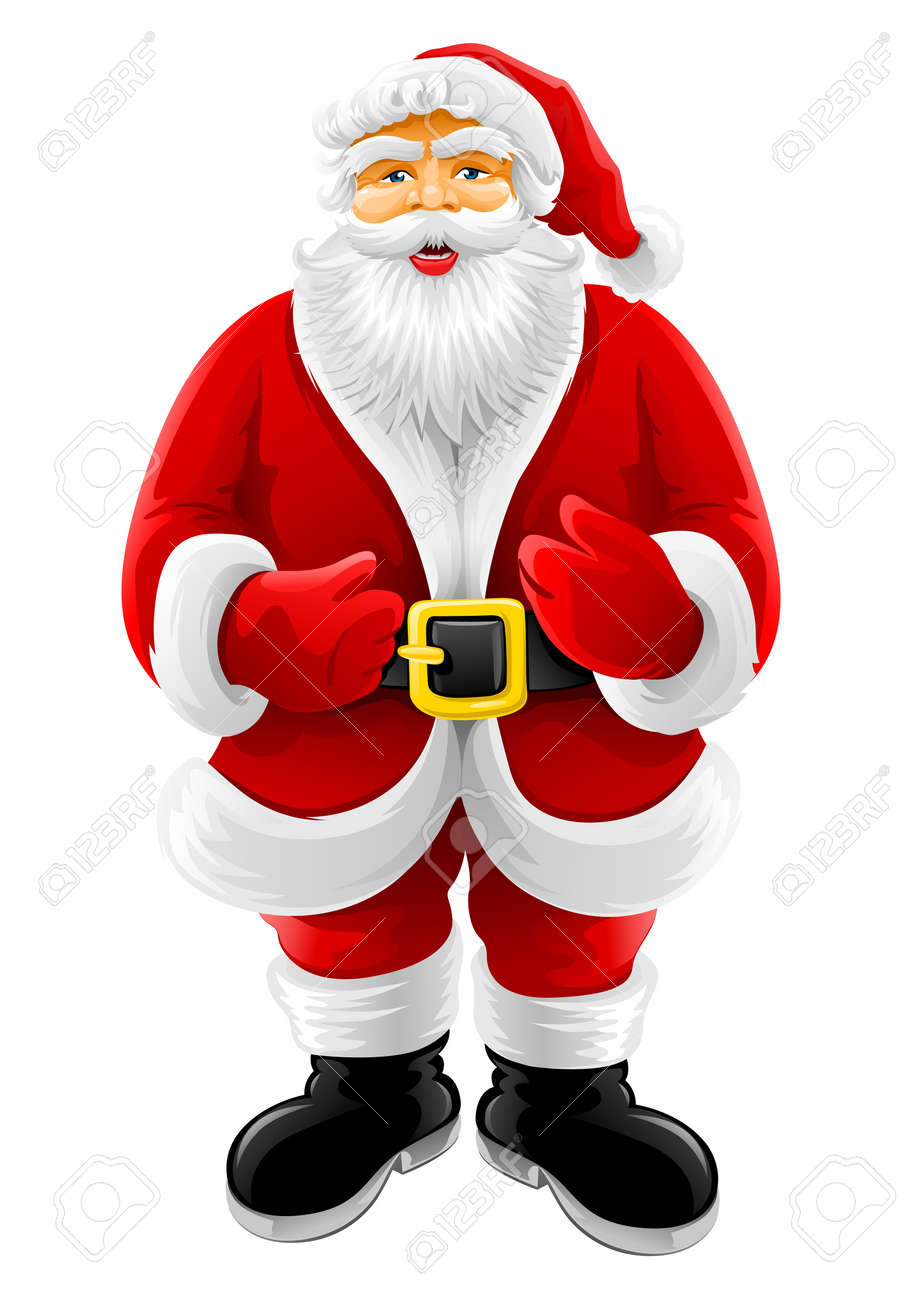 Christmas Santa Claus vector illustration isolated on white background Stock Vector - 3869430