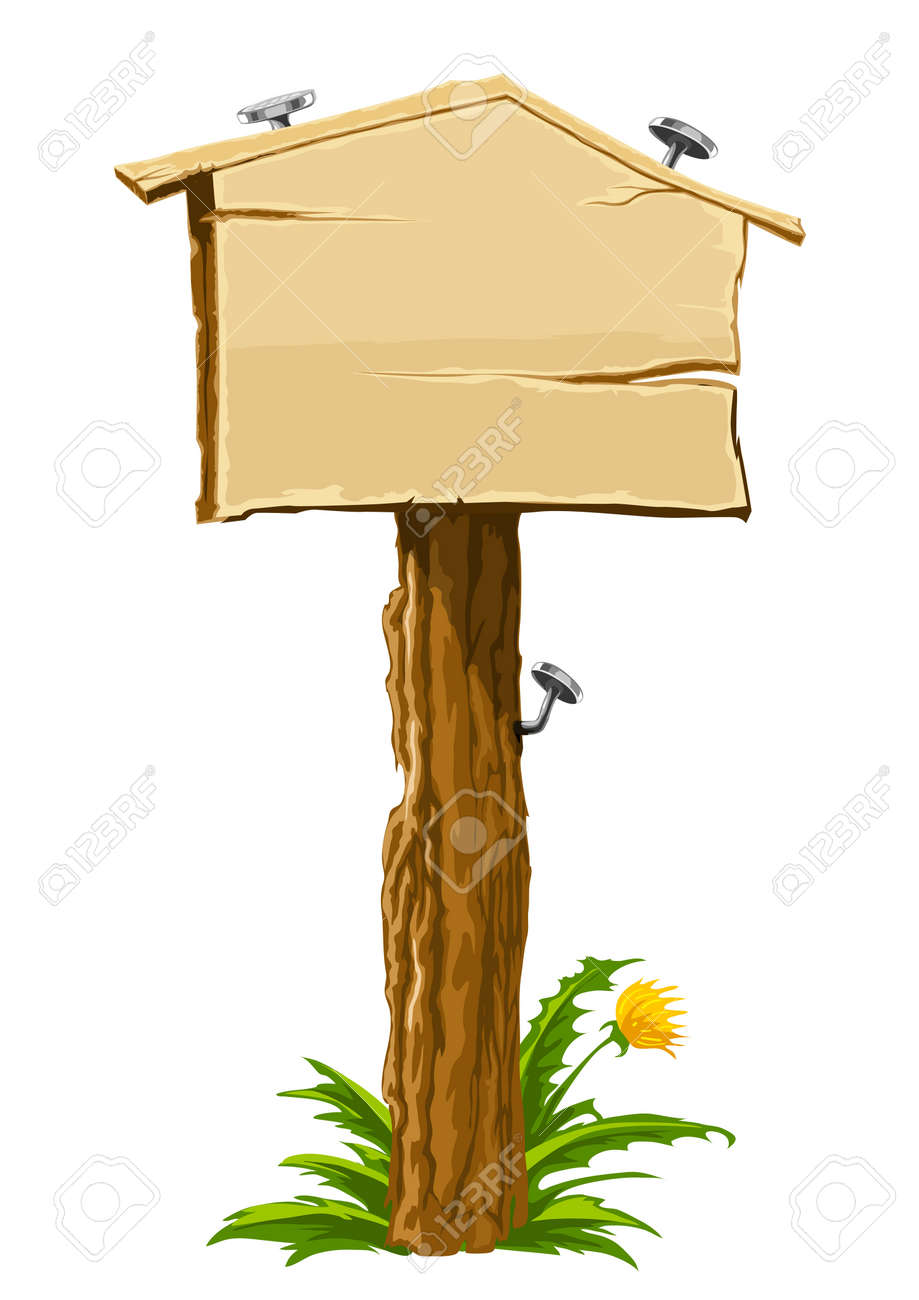 house for sale sign vector. wooden blank sign illustrating realestate theme house for sale vector illustration stock