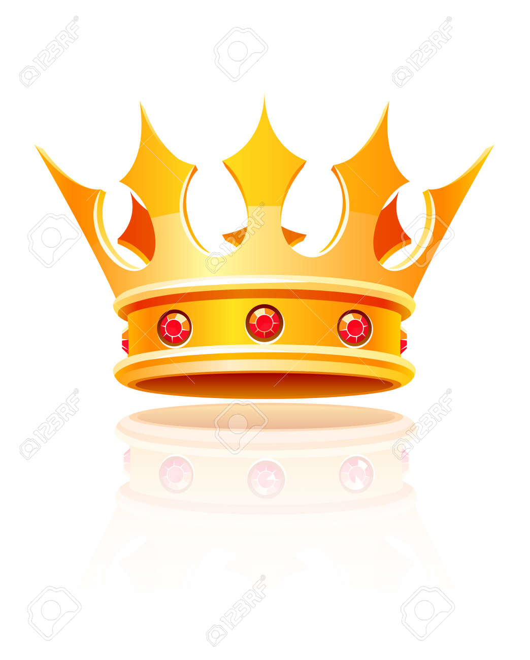 gold royal crown. Vector illustration isolated on white background - 8732300