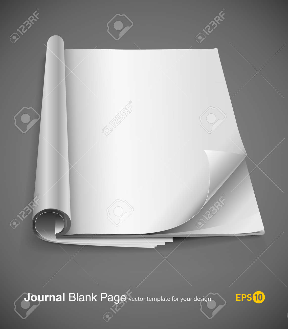 journal page with design layout vector illustration on gray background. eps10 Stock Vector - 8732307