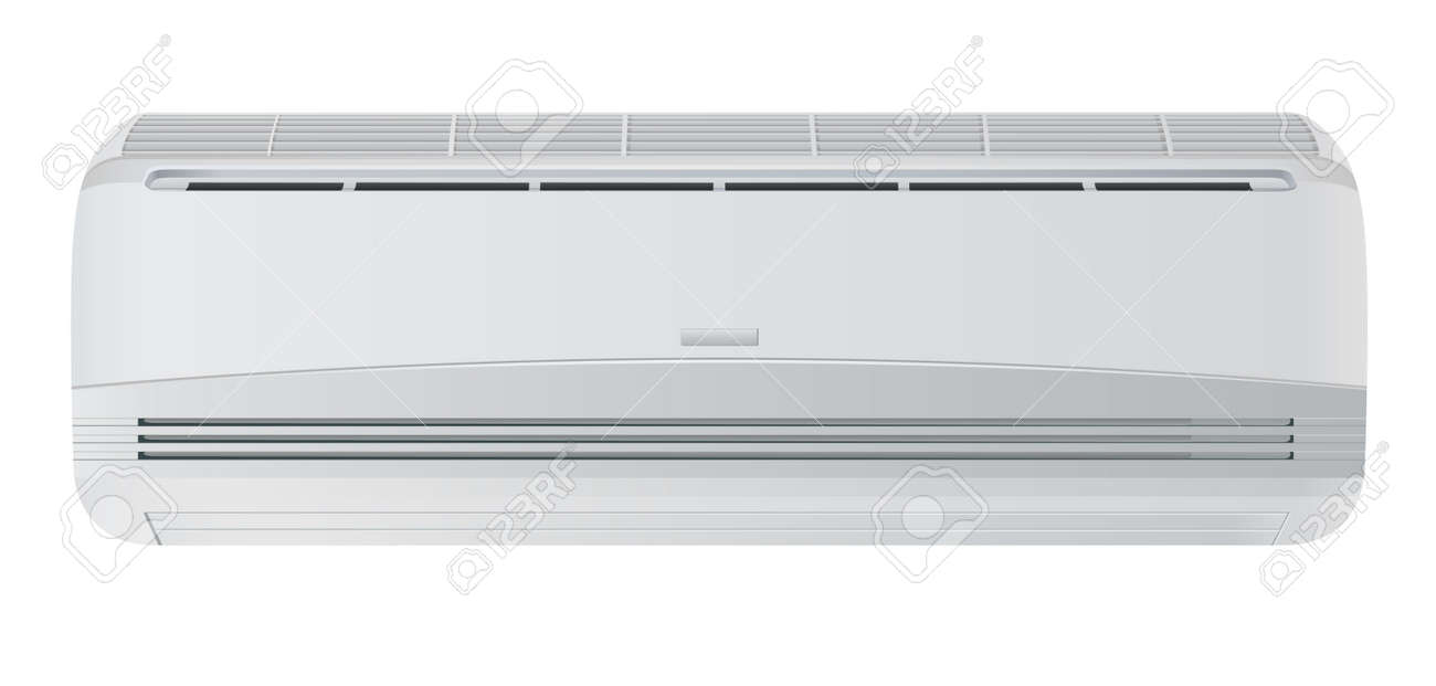 Air conditioner. Isolated on white background Stock Vector - 12422422