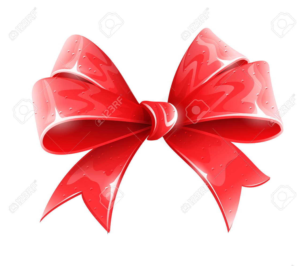 Red bow for holiday gift decoration vector illustration isolated red bow for holiday gift decoration vector illustration isolated on white background eps10 transparent objects negle Choice Image