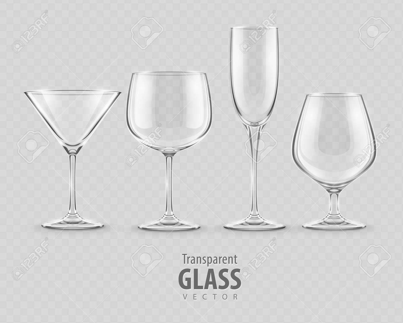 set of transparent glass goblets - EPS10 vector illustration Stock Vector - 21479502