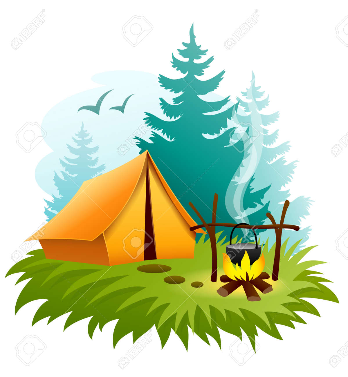 14,831 Camping Tent Stock Vector Illustration And Royalty Free ...