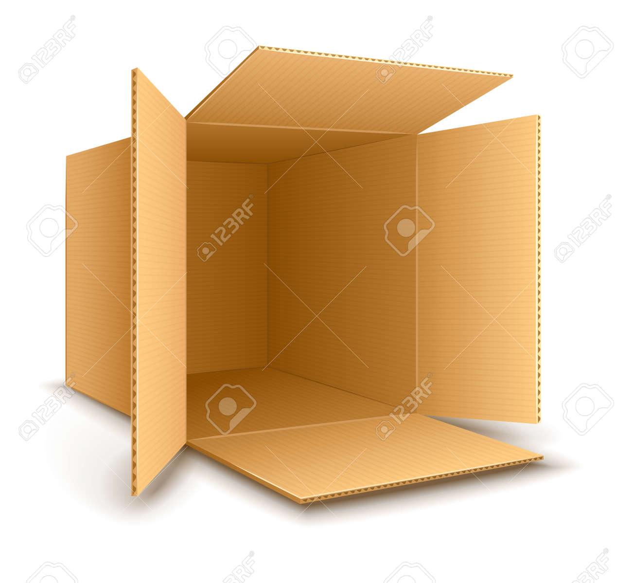Open empty cardboard box. Stock Vector - 26519134