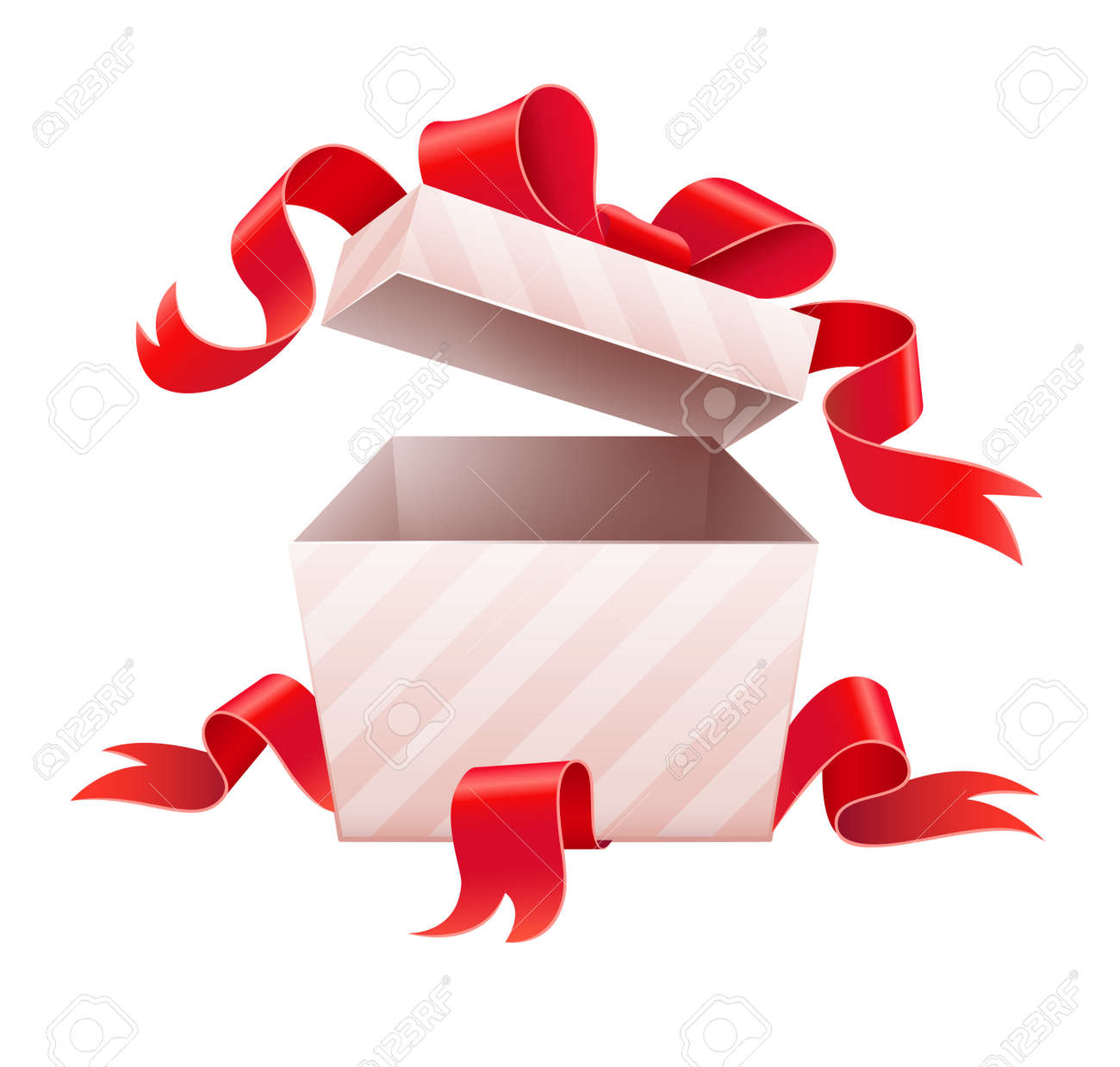Open Box With Ribbon For Holiday Gift Vector Illustration Isolated Royalty Free Cliparts Vectors And Stock Illustration Image 33101641