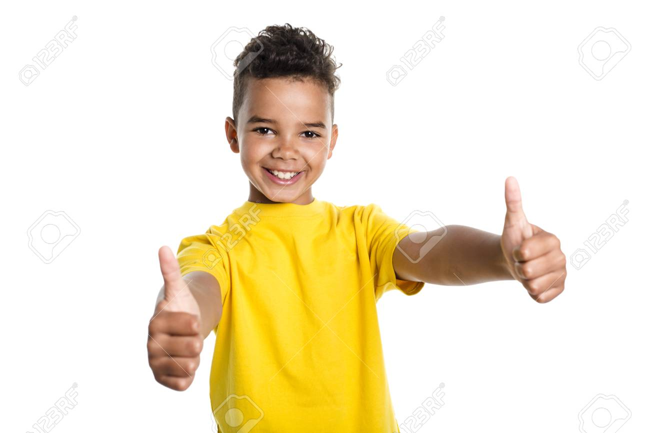 Adorable african boy on studio white background - 86436214