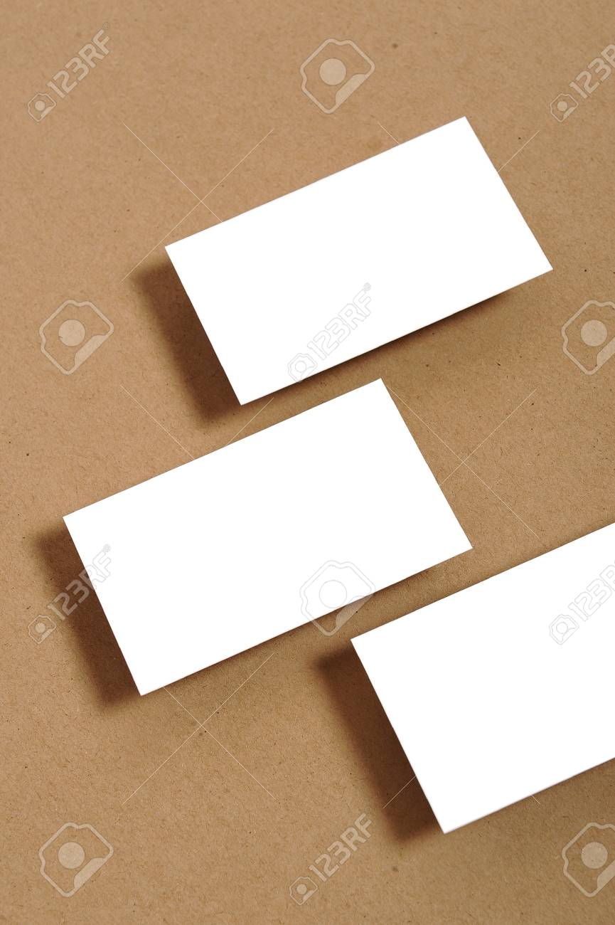 Blank Business Card Stock Photo, Picture And Royalty Free Image ...