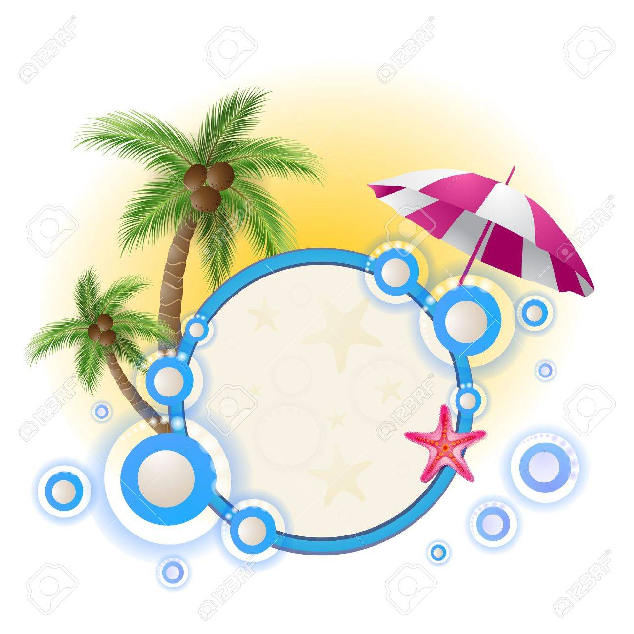 Summer background with palm trees Stock Vector - 13966084