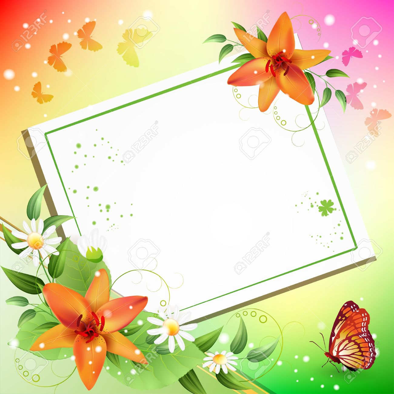 Group Of Beautiful Flower Background Royalty