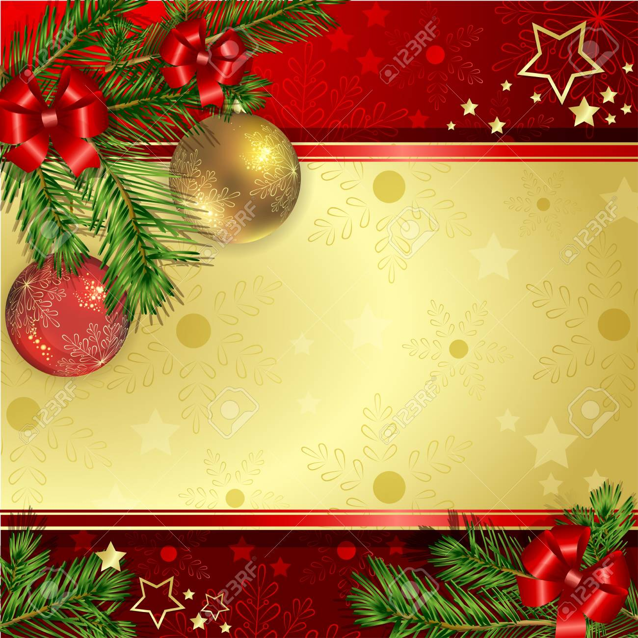Christmas background with pine branch Stock Vector - 17632969