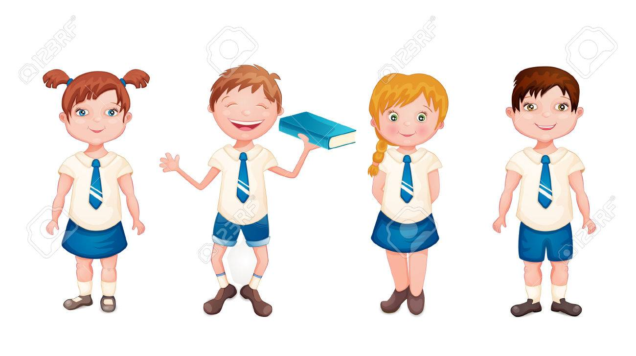 happy kids in school uniform isolated on white royalty free cliparts rh 123rf com blue school uniform clipart a schoolboy in uniform - clipart