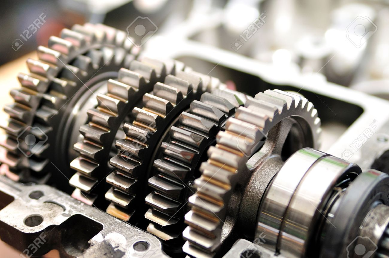 Gears From A Motorcycle Gearbox Stock Photo, Picture And Royalty Free  Image. Image 26174849.   Gear Box Of Motorcycle      123RF