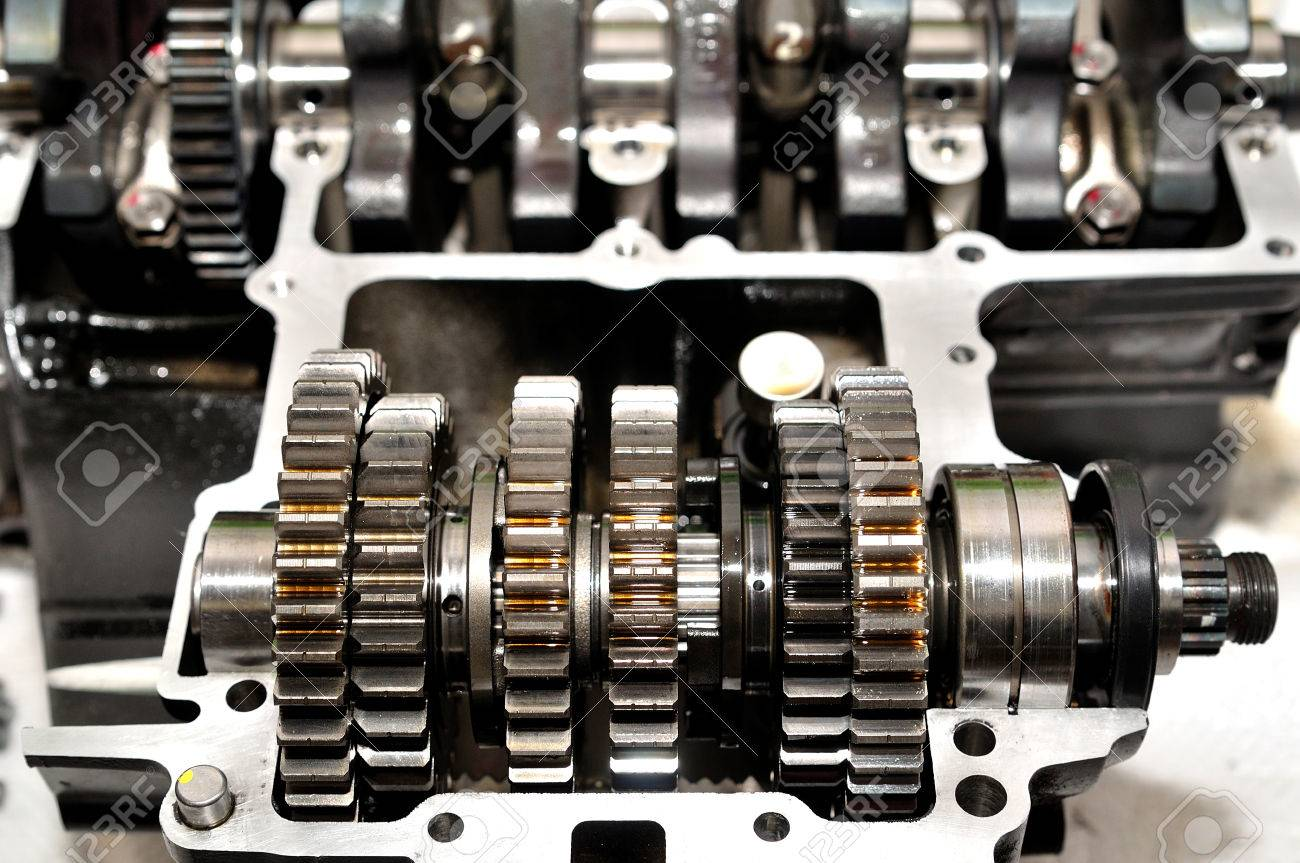 motorcycle gear box with crankshaft behind stock photo, picture andmotorcycle gear box with crankshaft behind stock photo 49263822