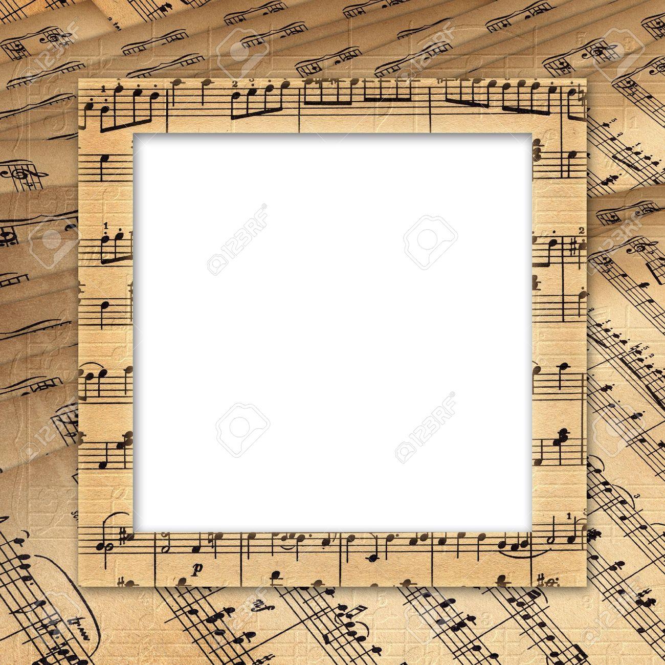 Rahmen Für Ein Foto Oder Eine Einladung. Grunge Musikalischen ...