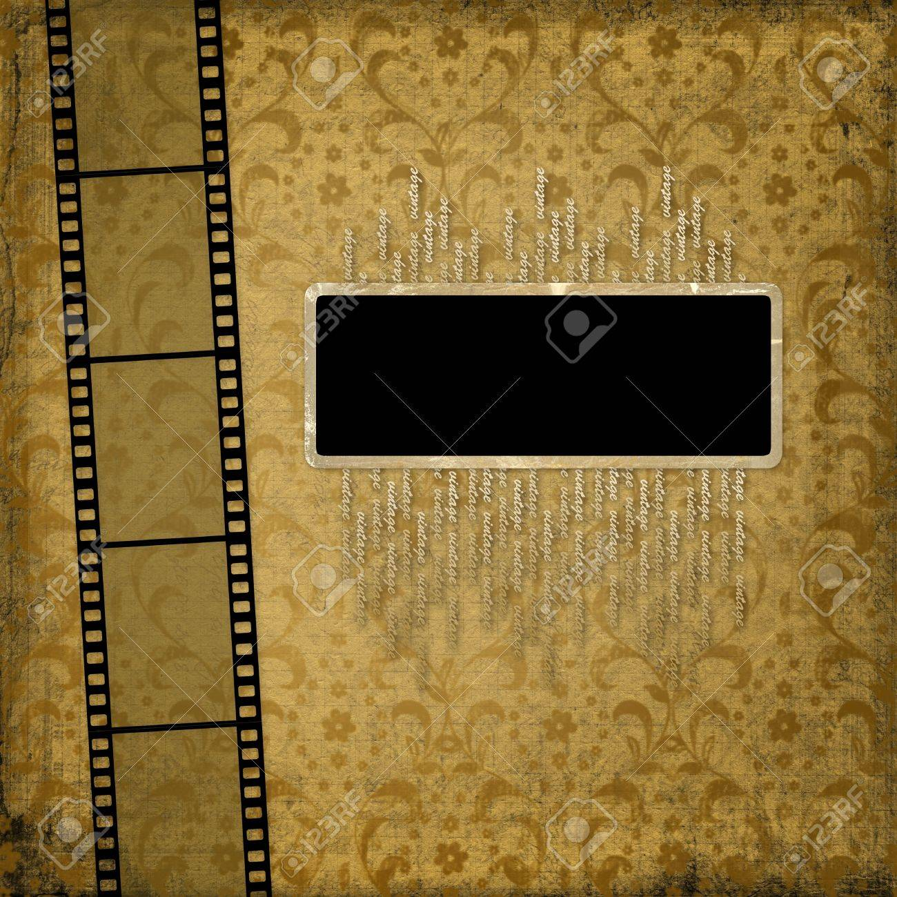 Old paper with ancient ornament and filmstrip Stock Photo - 4215000