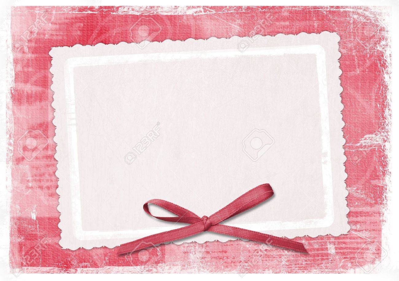 Rote Karte Für Die Begrüßung Im Retro-Stil Lizenzfreie Fotos, Bilder ...