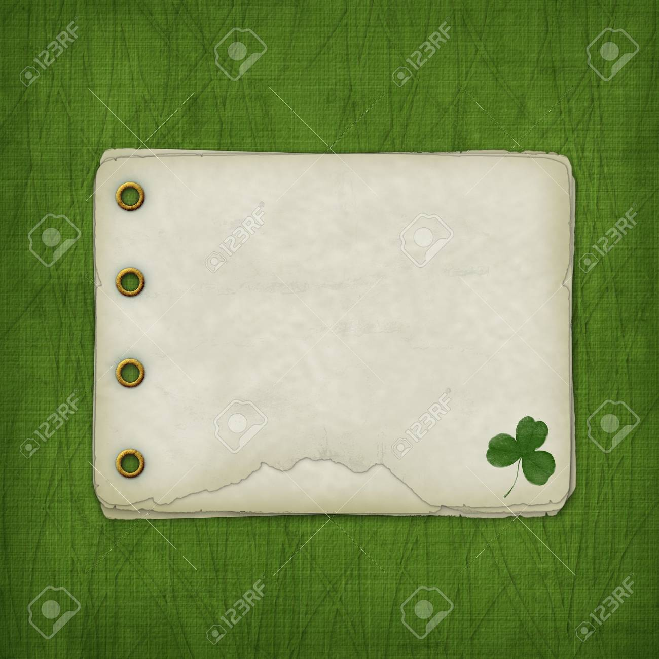Design album for St. Patrick's Day with leaf clover Stock Photo - 4318505