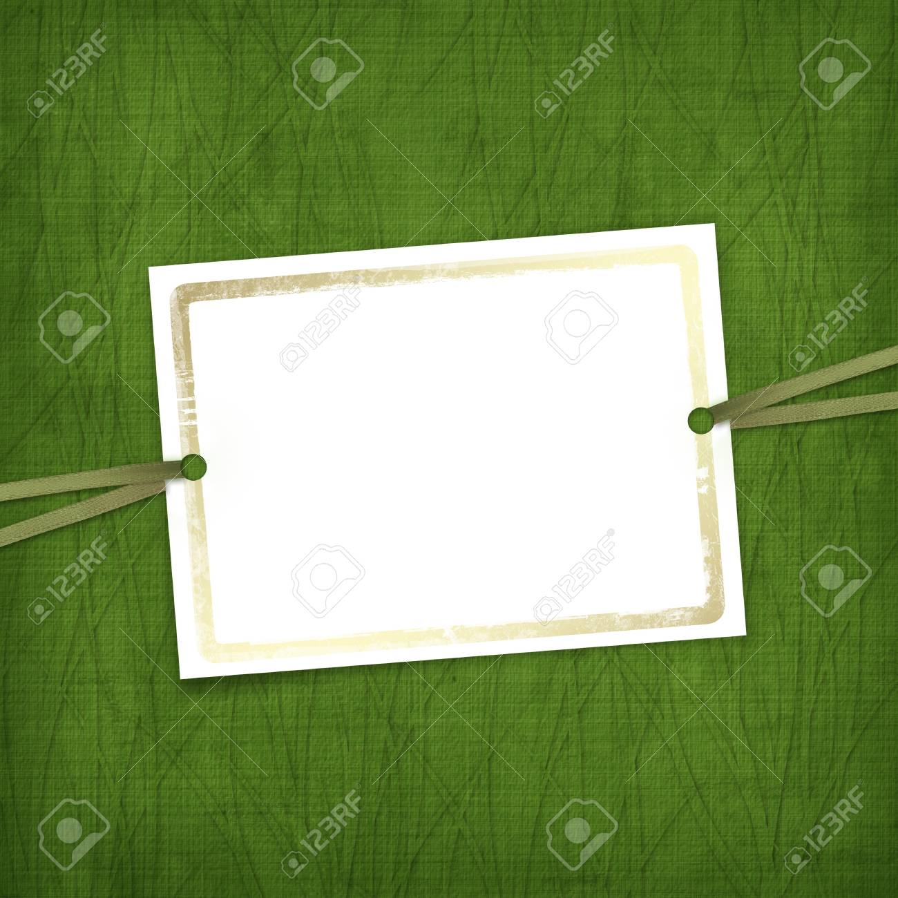Old invitation for holiday with ribbons on the grunge background Stock Photo - 4337679