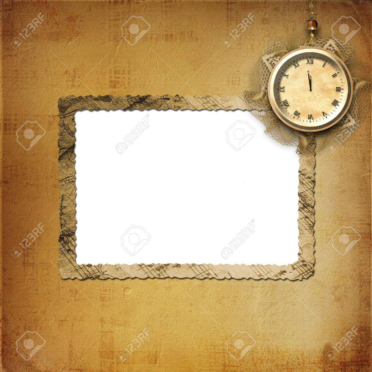 Antique clock face with lace on the abstract background Stock Photo - 5988682