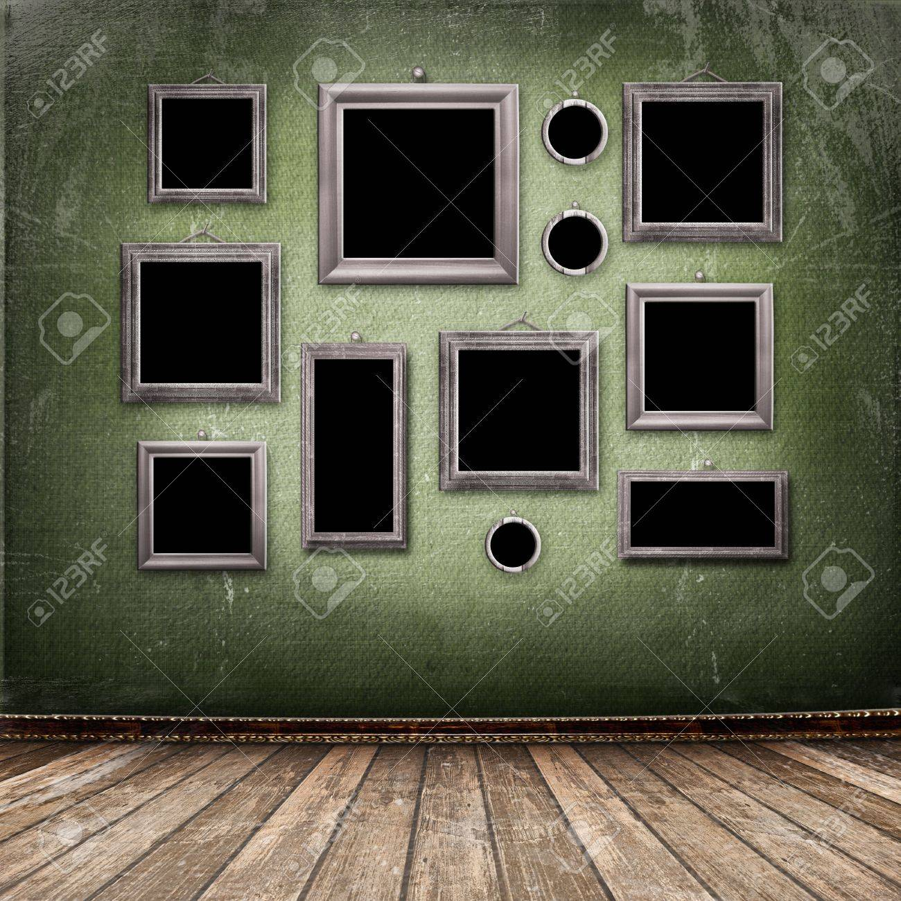 Old room, grunge industrial interior, worn  surface, wooden frames Stock Photo - 6065908