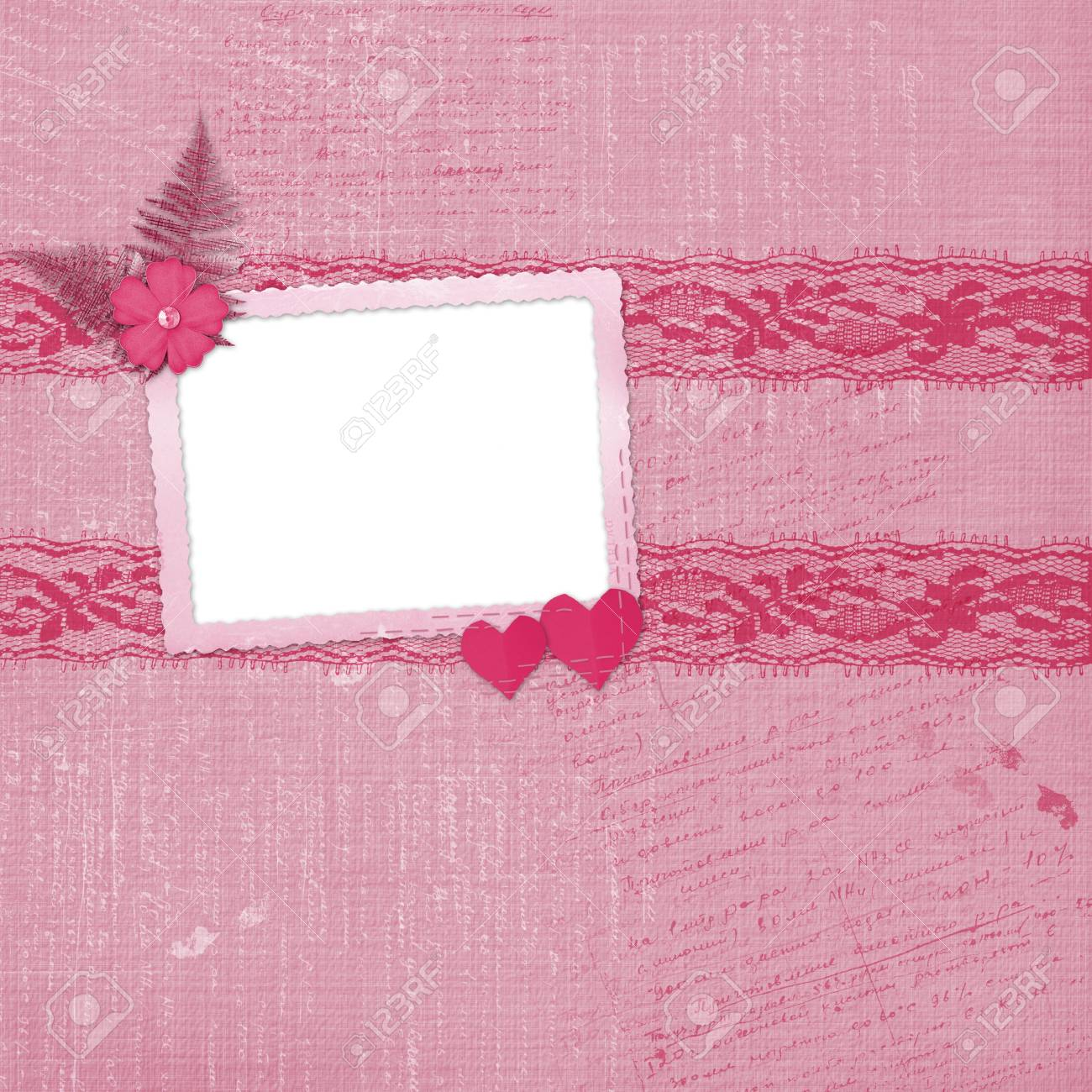 Valentines day card with hearts for congratulation to holiday Stock Photo - 6225854