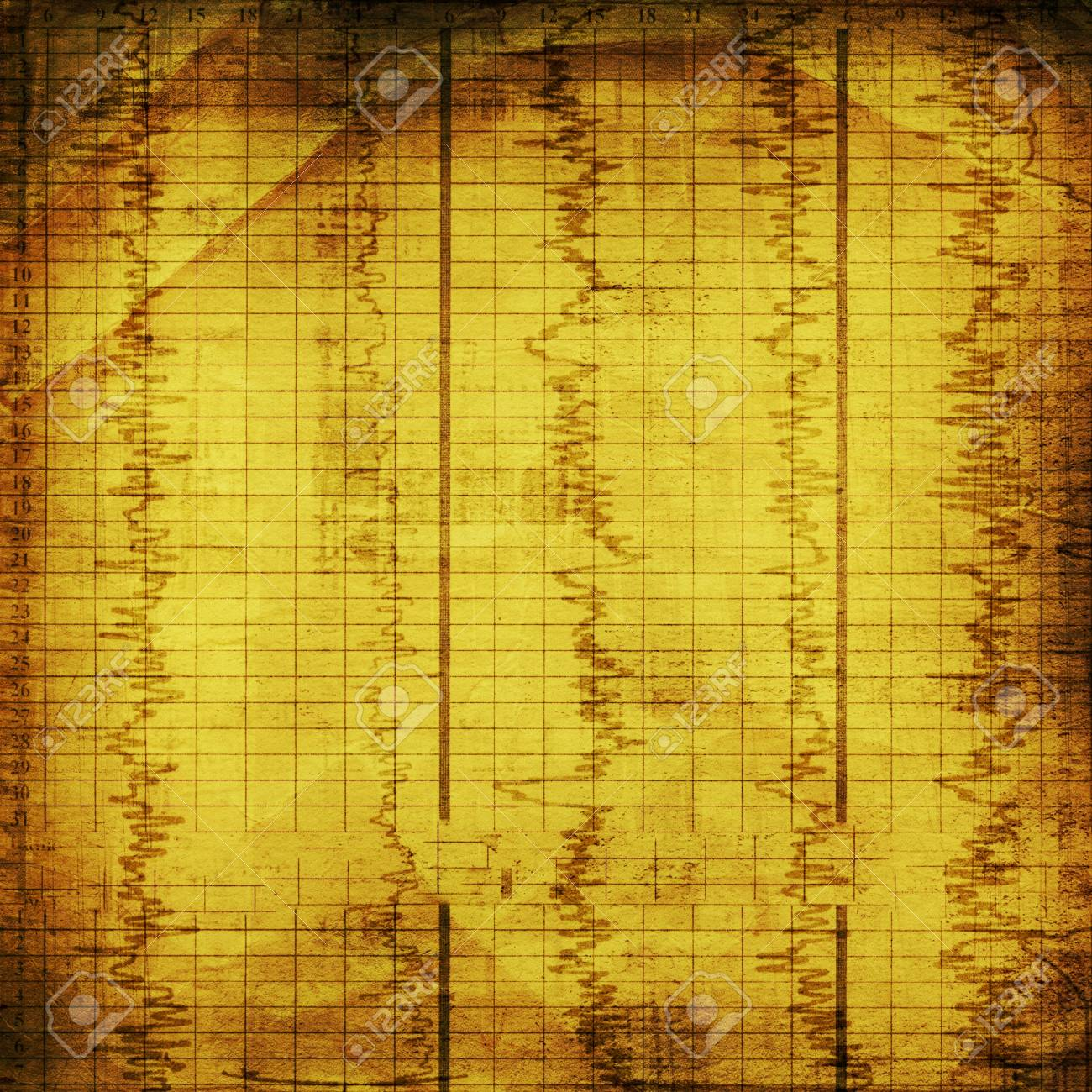Grunge abstract paper background with old diagram Stock Photo - 6422034