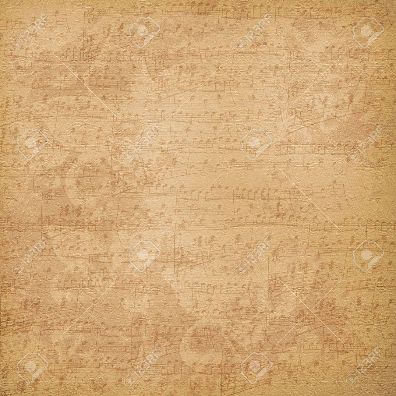 Old alienated musical paper in scrapbooking style for design Stock Photo - 6775694