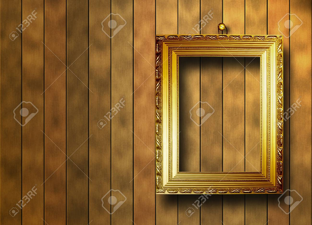 grunge  interior with frame in style baroque Stock Photo - 7249614