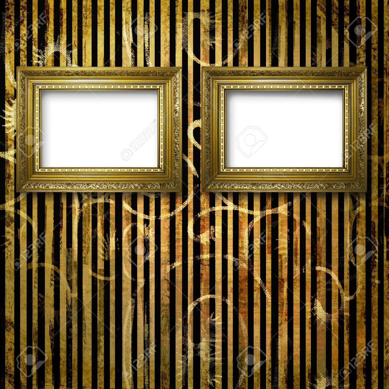 Vieja Sala, Interior De Grunge Con Marcos En Estilo Barroco Fotos ...