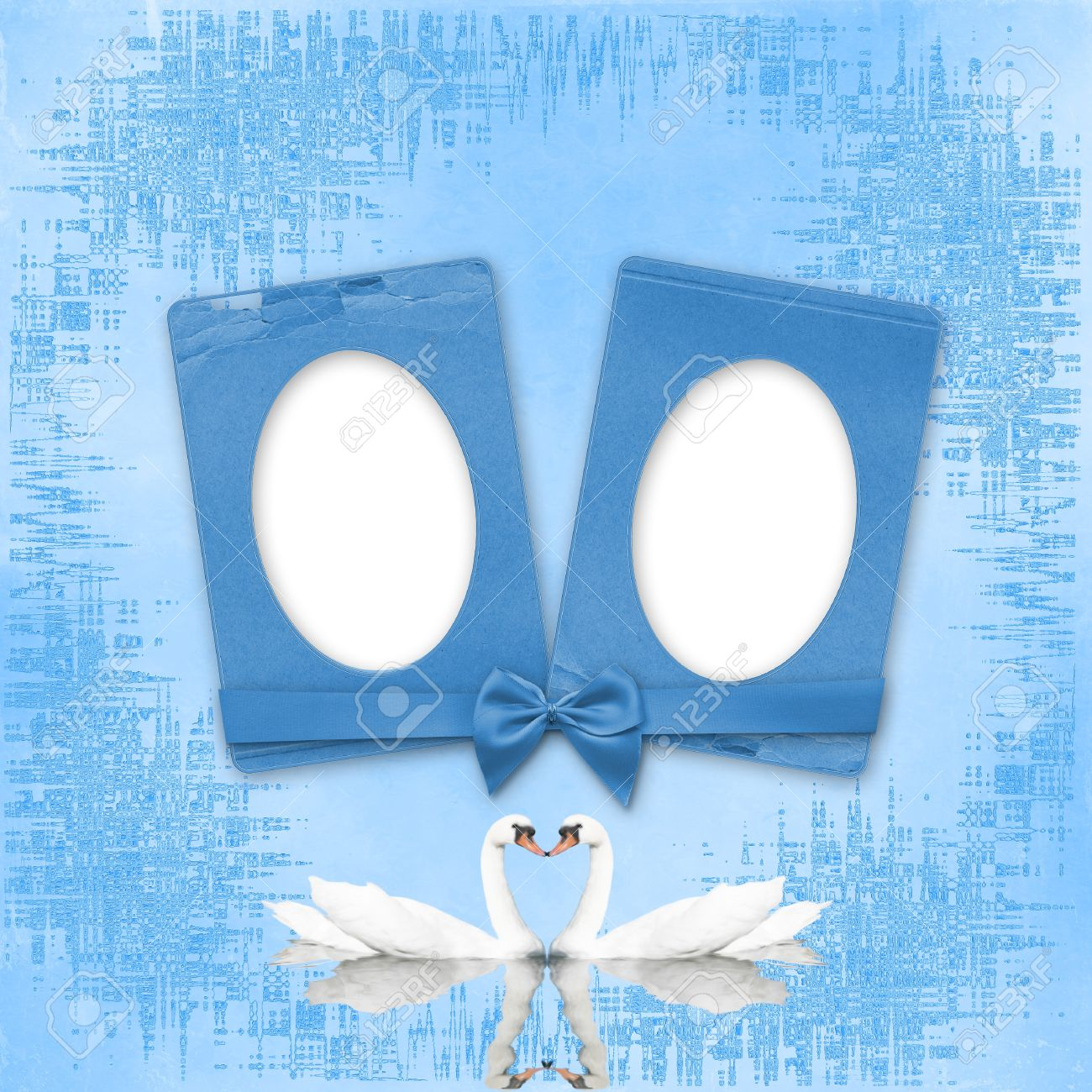 Greeting card to wedding with frames on the blue background stock greeting card to wedding with frames on the blue background stock photo 7745516 jeuxipadfo Choice Image